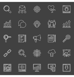Business Marketing icons set vector image