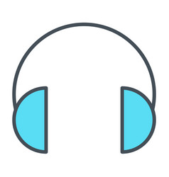 headphones thin line icon vector image vector image