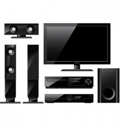 home theater system vector image