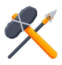Stone tools icon vector