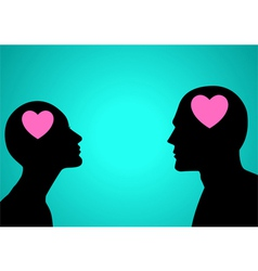 Think Love vector image