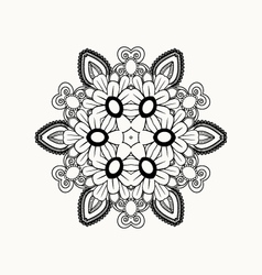 Black and white abstract pattern with leaves vector image vector image