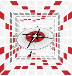 compass scene vector image
