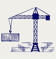 Crane working vector image vector image