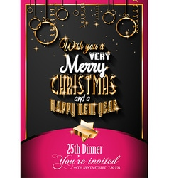 New Year and Happy Christmas background vector image vector image