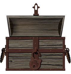 old empty open chest vector image