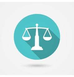 scales balance icon harmony concept vector image