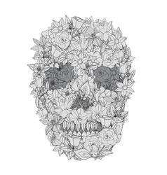 Skull from flowers vector image
