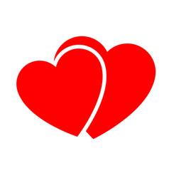 two hearts web icon vector image