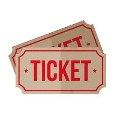 Two retro cinema tickets vector image