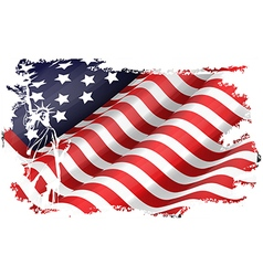USA flag in the EEUU maps vector image vector image