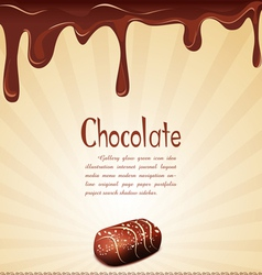 chocolate candy background vector image vector image