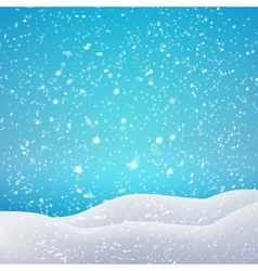 Snowfall and drifts concept for your artwork vector image vector image