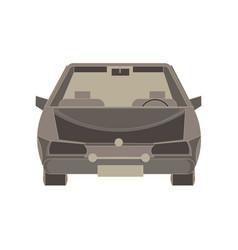 car icon silhouette isolated automobile auto vector image vector image