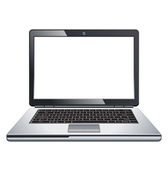Laptop isolated on white vector image vector image