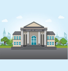 modern court building vector image vector image