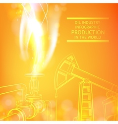 Oil Pump on orange vector image