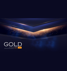 Abstract geometric line background with gold vector