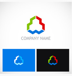 abstract geometry colored shape logo vector image