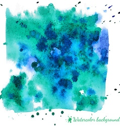 Abstract light blue watercolor background vector image