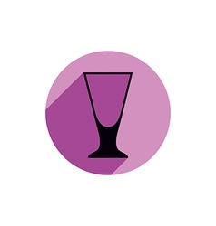 Alcohol beverage theme icon blend or shake glass vector