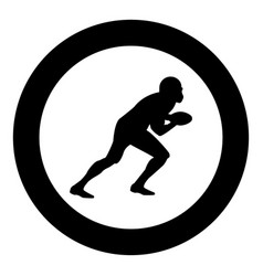 american football player icon black color in vector image
