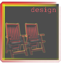 armchair design vector image
