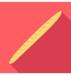 Baguette icon flat style vector