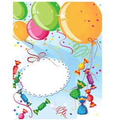 balloons and candy vector image