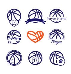 basketball player name number vector image