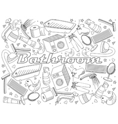 Bathroom coloring book vector image