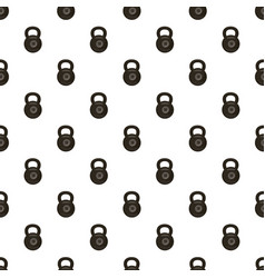 Black kettlebell pattern vector