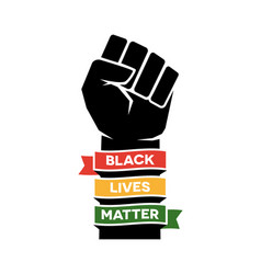 black lives matter poster design vector image