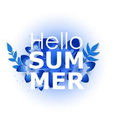 bright hello summer poster vector image
