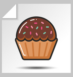cakes muffins sweets icons 2 vector image