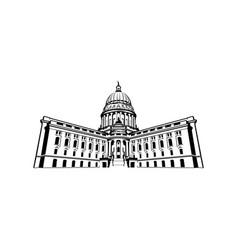 capitol logo design vector image