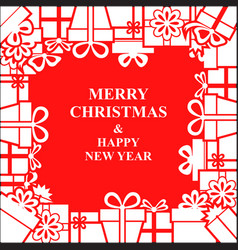 Christmas gifts frame vector