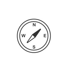 compass line icon simple modern flat for mobile vector image