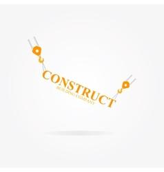 Crane logo for construction company vector image