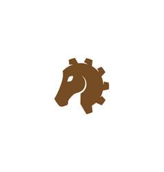 Creative horse head gear logo vector
