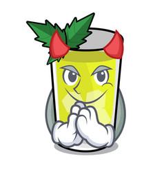 Devil mint julep mascot cartoon vector