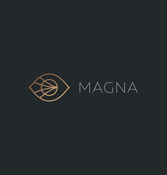 eye sight logo design template in linear vector image