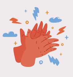 Female hands applaud women vector