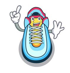 Finger sneaker mascot cartoon style vector