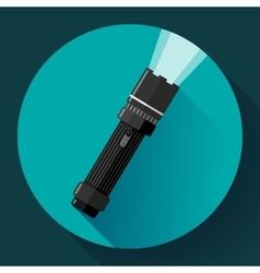 Flashlight icon Flat design style vector