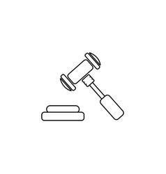 gavel line icon black vector image