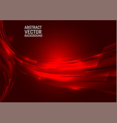 geometric red color abstract background design vector image