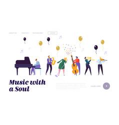 group musician artists popular jazz band vector image