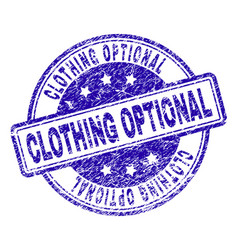 Grunge textured clothing optional stamp seal vector