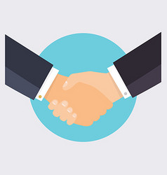 Handshake of business people flat design modern vector